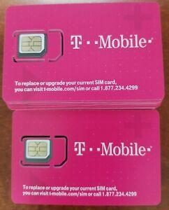NEW T-Mobile 4G 5G LTE Sim Card Tmobile 3 IN 1 TRIPLE CUT. Standard, Micro, Nano