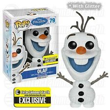 Funko Pop Glitter Olaf EE EXCLUSIVE Disney Frozen Vinyl Figure NEW