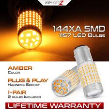 """SUPER BRIGHT"" 1157 1141 BAY15D Yellow SMD LED Blinker Signal Light Bulbs Amber"