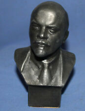 Vintage Soviet Russian hand made metal bust statuette Lenin by Gevorkyan