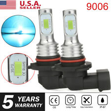 9006 CREE CSP 2X Fog Light LED 100W Hi/Lo Beam Headlight 8000K 8000LM DRL Silver