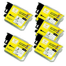 5 YELLOW Ink Cartridge for Series LC61 Brother MFC 490CW 495CW 585CW J265w J630W
