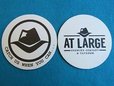 Beer Collectible Coaster ~ AT LARGE Brewing Co & Taproom ~ Everett, WASHINGTON