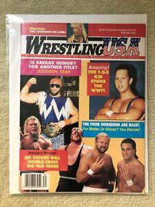 Winter 1993 WRESTLING USA MAGAZINE! Macho Man, 1-2-3 Kid, Sid Vicious, Vader wwe