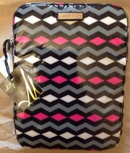 MILLY Zig Zag Canvas Coated iPad Tablet Case Pouch Brand New Handbag NWT