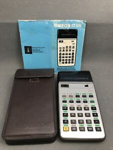 OMRON 12SR RPN Scientific Calculator with Case and Manual Works