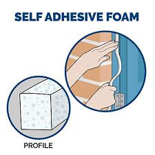 5m White Window & door Draught foam Self adhesive seal