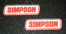2 x Vinile Casco SIMPSON ADESIVI DECALCOMANIE MOTO 97 mm x 30 mm FREEPOST