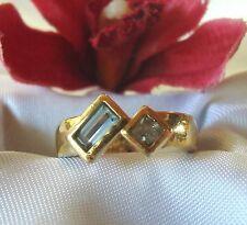 Pierre Lang Ring mit  farbigen Steinchen vergoldet Fingerring / Art. nn 915