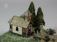 Luetke 73318 Z Scale Alpine Chapel Church Wood Laser-Cut Kit *New