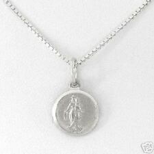 Madonna &  Child Necklace in Solid Sterling silver 18in
