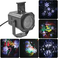 4/6 Pattern Christmas LED Laser Projector Spotlights Xmas Party Disco Stage Lamp