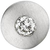 Anhänger Halsschmuck Kreis mit Diamant Brillant 950 Platin, Halsschmuck mattiert
