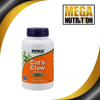 NOW Foods Cat's Claw 500mg 100 Veg Capsules | Herbal Support Vegetarian Vegan