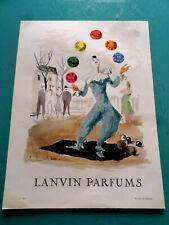 """publicités ancienne  LES PARFUMS LANVIN """"    (U2)"""
