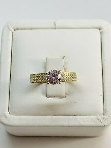 Real 10k Gold Engagement Ring  7.5 - Anillo De Compromiso 7.5