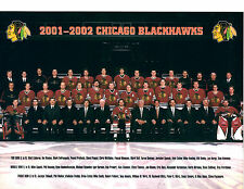 2001 2002 CHICAGO BLACK HAWKS 8X10 TEAM PHOTO HOCKEY NHL HOF ILLINOIS