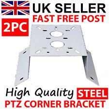 2 X PTZ CORNER MOUNT POLE BRACKET FOR CCTV CAMERA PTZ BRACKET METAL OUTDOOR
