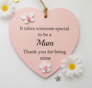 It takes someone special to be a Mum handmade wooden heart gift plaque