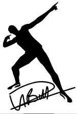 USAIN BOLT Olympics Gold 100m Jamaica  Vinyl Decal Sticker Window Wall Car Black