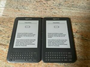 (2) Amazon Kindles: D00901 3rd Generation 4GB Wi-Fi + 3G - GRAPHITE - PLS READ