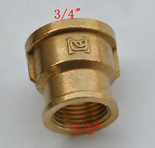 "Brass Connector NPT G1/2"" female transfor 3/4"" female threads adapter 1pcs"