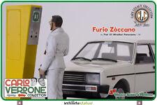 FURIO E FIAT 131 PANORAMA 1:18 con CARLO VERDONE Bianco Rosso Infinitestatue