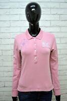 Maglia Polo Donna LA MARTINA Taglia M Camicia Manica Lunga Shirt Woman