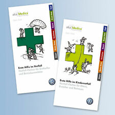 1x Set VW Erste Hilfe Notfallbuch 000087103A B Fächer Notfall Sanitäter Kinder