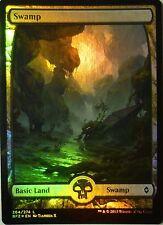 FOIL  Swamp / Sumpf  - BATTLE ZENDIKAR - englisch (n-mint +) # 264  * Full Art *