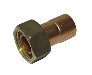 """15mm End Feed x 1/2"""" BSP Tap Connector   Solder Fitting For Copper Pipe"""