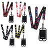 Detachable SpiriuS Lanyard Cell Phone Case Holder Neck Strap With Card Pocket
