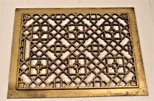 "Vintage Cast Iron Floor Grate Register Victorian Heating Furnace Home 12"" x 16"""