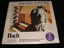 BACH<>FAMILY LIBRARY OF GREAT MUSIC<>SEALED p Vinyl~Canada Pressing<>ALBUM 6