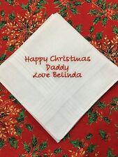 Peronalised Ladies or Gents handkerchief, Christmas Gift