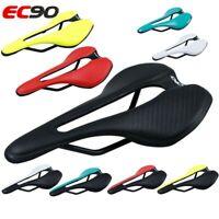 EC90 Road Bike Saddle Leather MTB Bike Seat Nylon Bike Cushion Ultralight Racing
