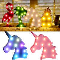 Cute Unicorn Head LED Letter Table Lamp Night Light Children Gift Room Light b15