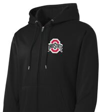 Ohio State Jacket Full Zip Hoodie Black Hooded Buckeyes Front Zipper Sweatshirt