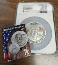 2020 Cameroon 5000 Francs Silver 5 Oz. Coin  NGC PF70 Ultra Cameo - Donald Trump