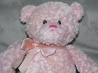 GUND PINK BEAR SOFT TOY TEDDY COMFORTER DOUDOU 46411