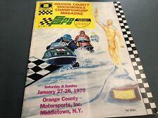 1979 SNO PRO Snowmobile Magazine PROGRAM ski Doo Arctic Cat Polaris Yamaha