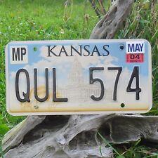 Véritable Plaque D'Immatriculation KANSAS (QUL574) USA License plate