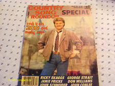 Ricky Skaggs Covers Country Song Roundup Magazine Fall 1986 George Strait