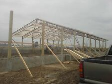 50 foot steel truss clear span, agricultural building, pole barn, arena, carport