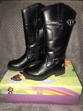New Skechers Kids Girls Black Boots Size 12