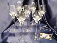 Tall Crystal Hock Wine Glass Set of Seven