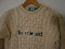 Mac Baaaa Sweater Kids Boys Girls Sz 7-8 Washable Wool Scottish Scotland New Tag