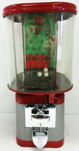 Oak Penny Skill Football Gumball Dispenser 1950's