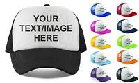 Personalised Snapback Hat Trucker Cap Half Mesh Baseball Cap Mens Ladies Unisex