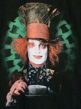 EUC Adorable TIM BURTON'S Alice in WONDERLAND Johnny DEPP as MAD HATTER Blk TOP